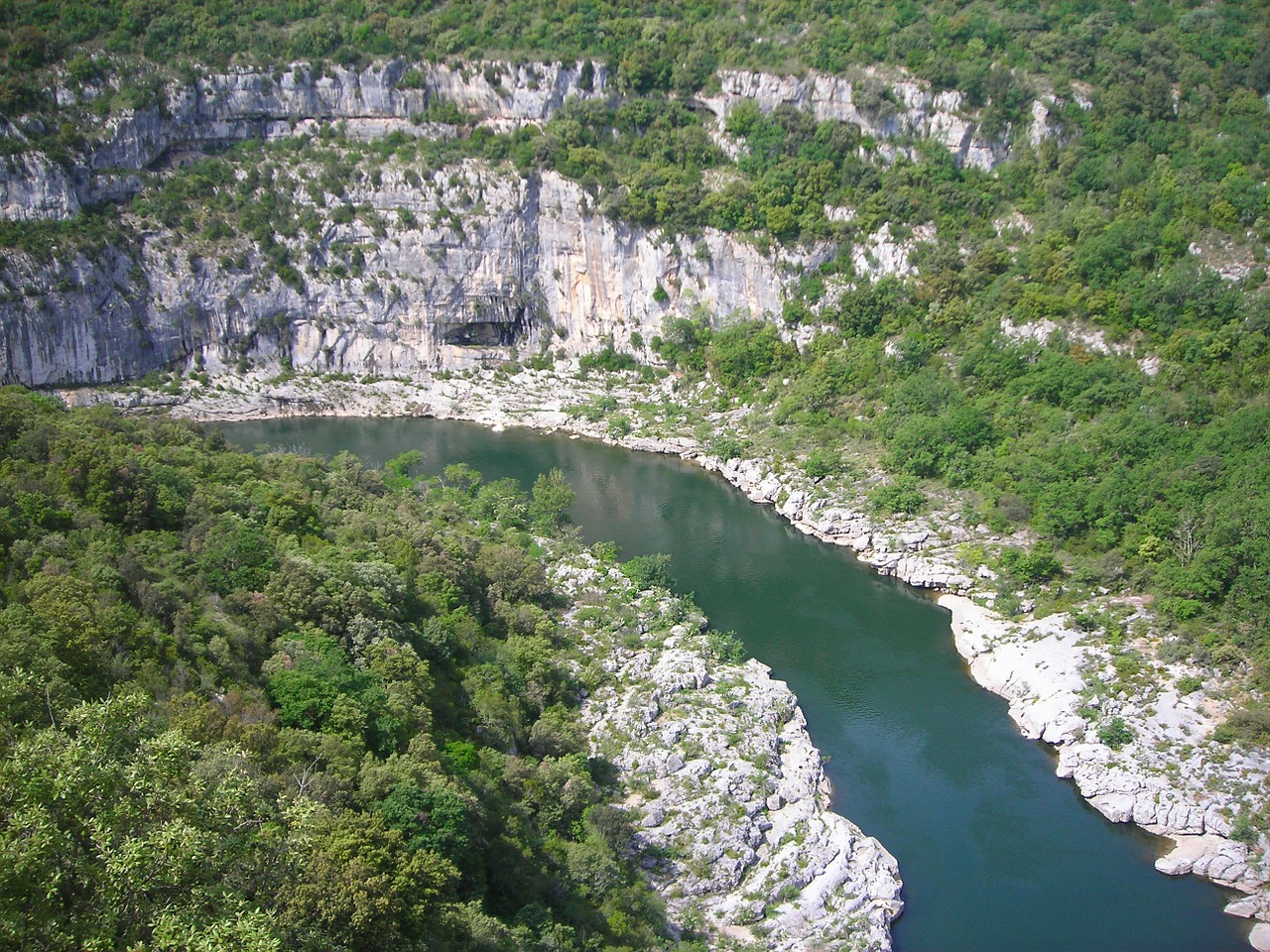 ardeche river france free photo