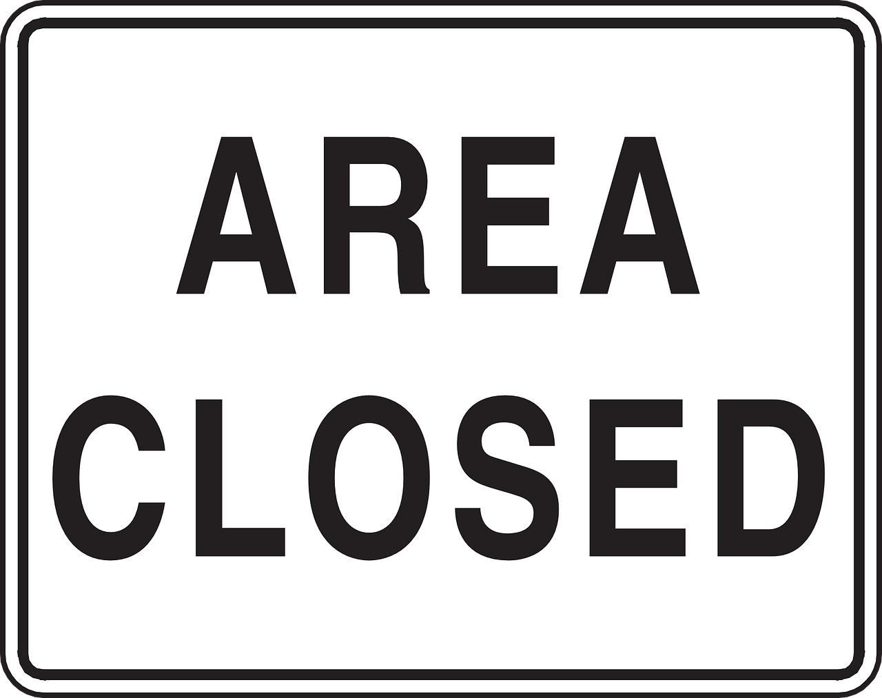 area closed sign free photo