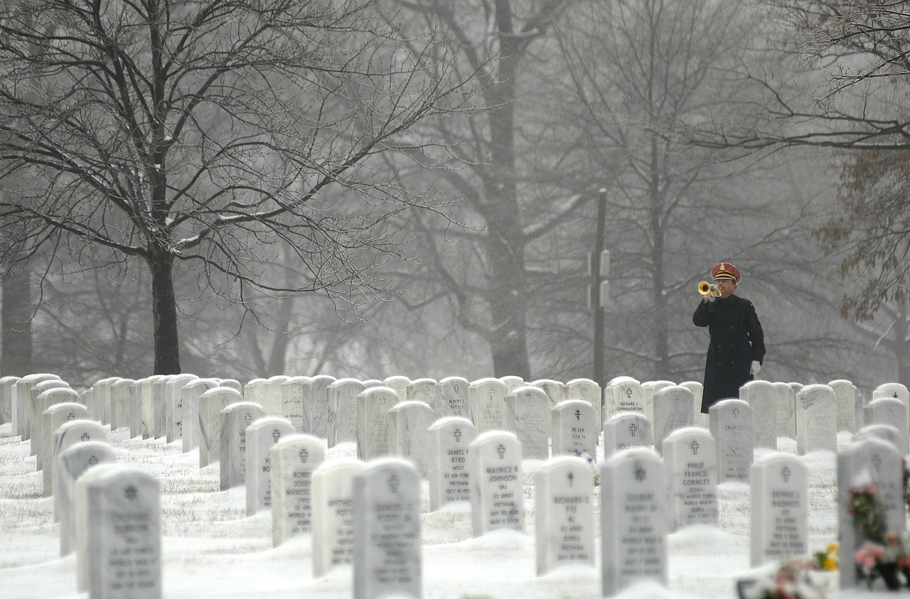 arlington national cemetery washington dc bugler free photo