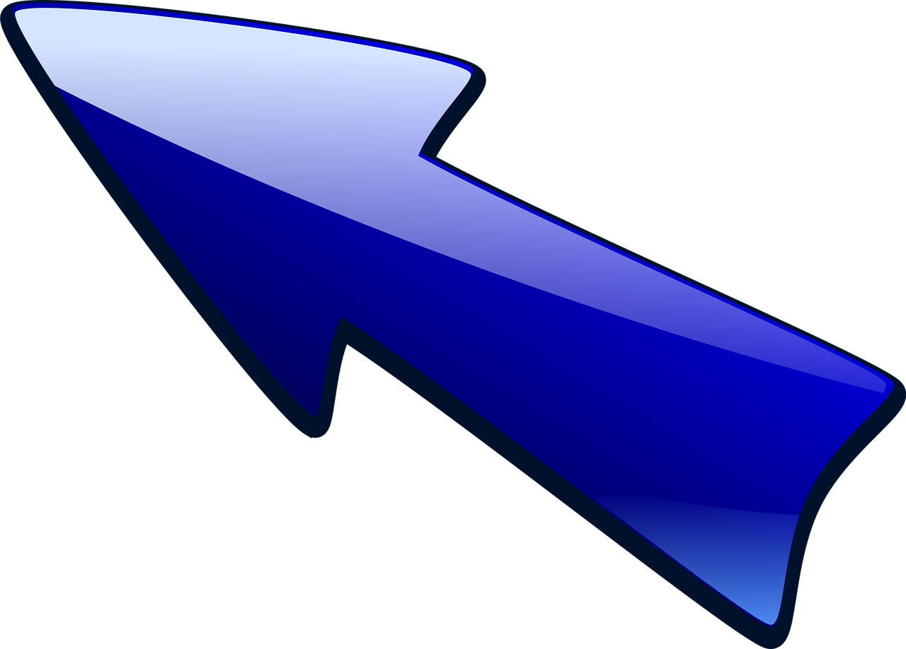 arrow arrow pointing up left blue free photo