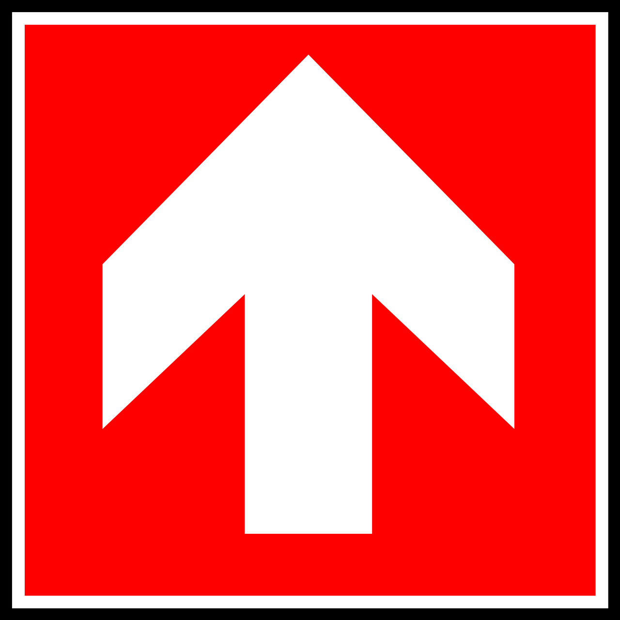 arrow up sign free photo