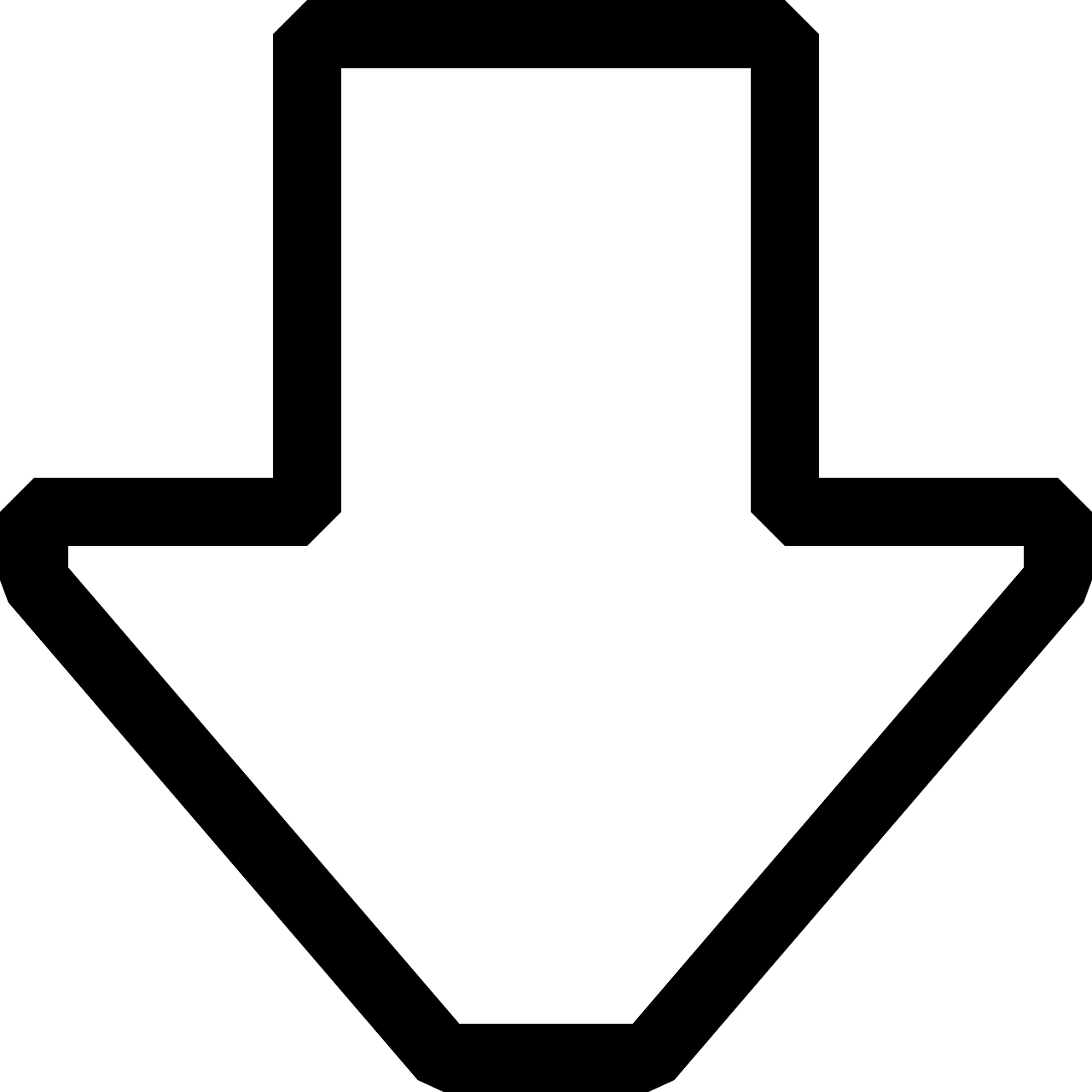 arrow down symbol free photo