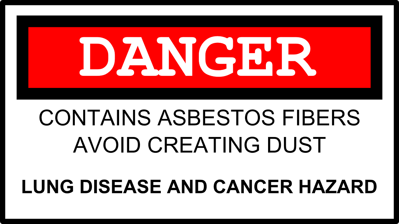 asbestos danger warning free photo