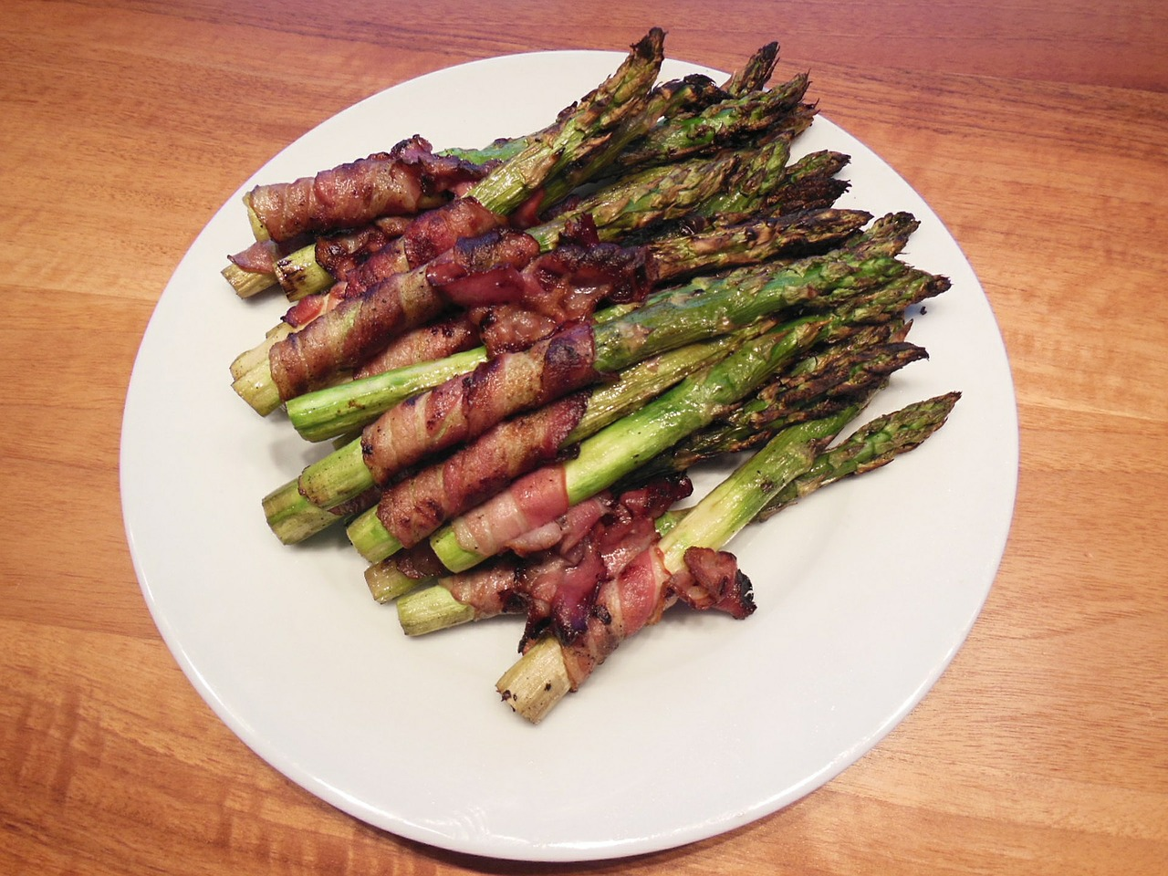 asparagus bacon grill free photo