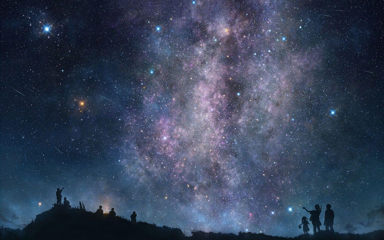 astronomy galaxy space free photo