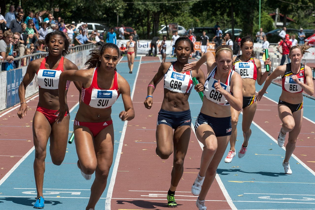 athletics sport relay free photo