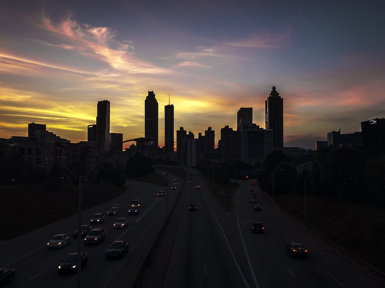 atlanta urban skyline free photo