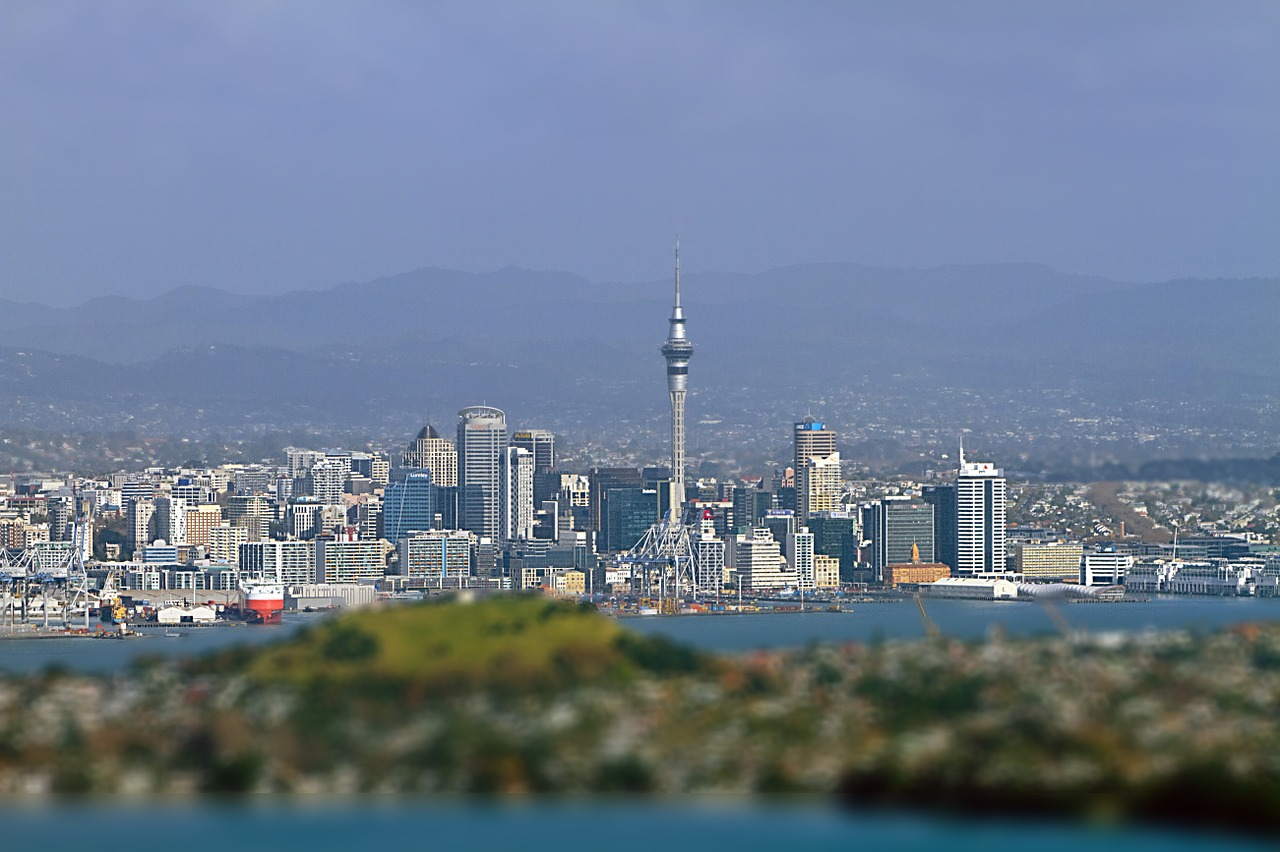 auckland new zealand skyline free photo