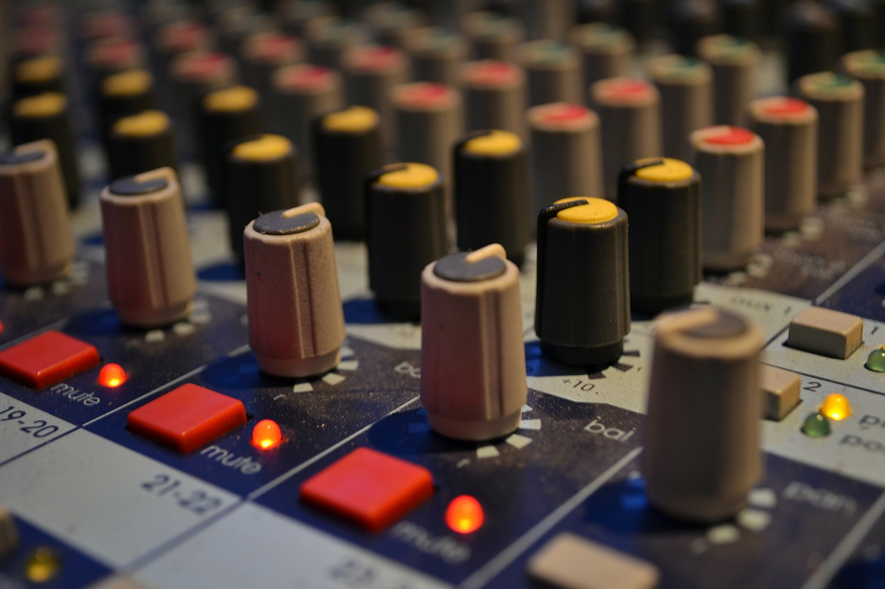 audio mixing board music studio free picture