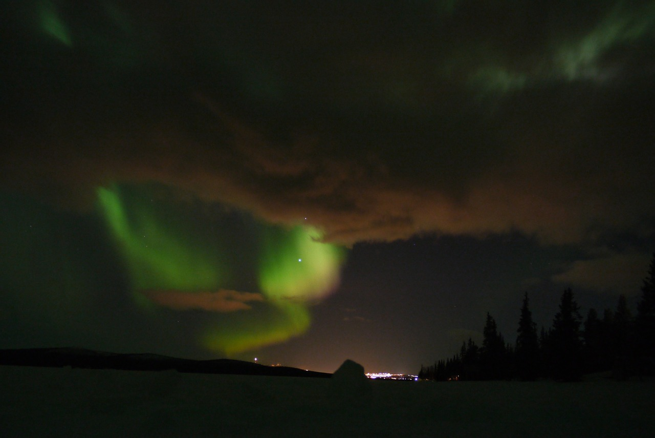 aurora borealis northern lights free photo