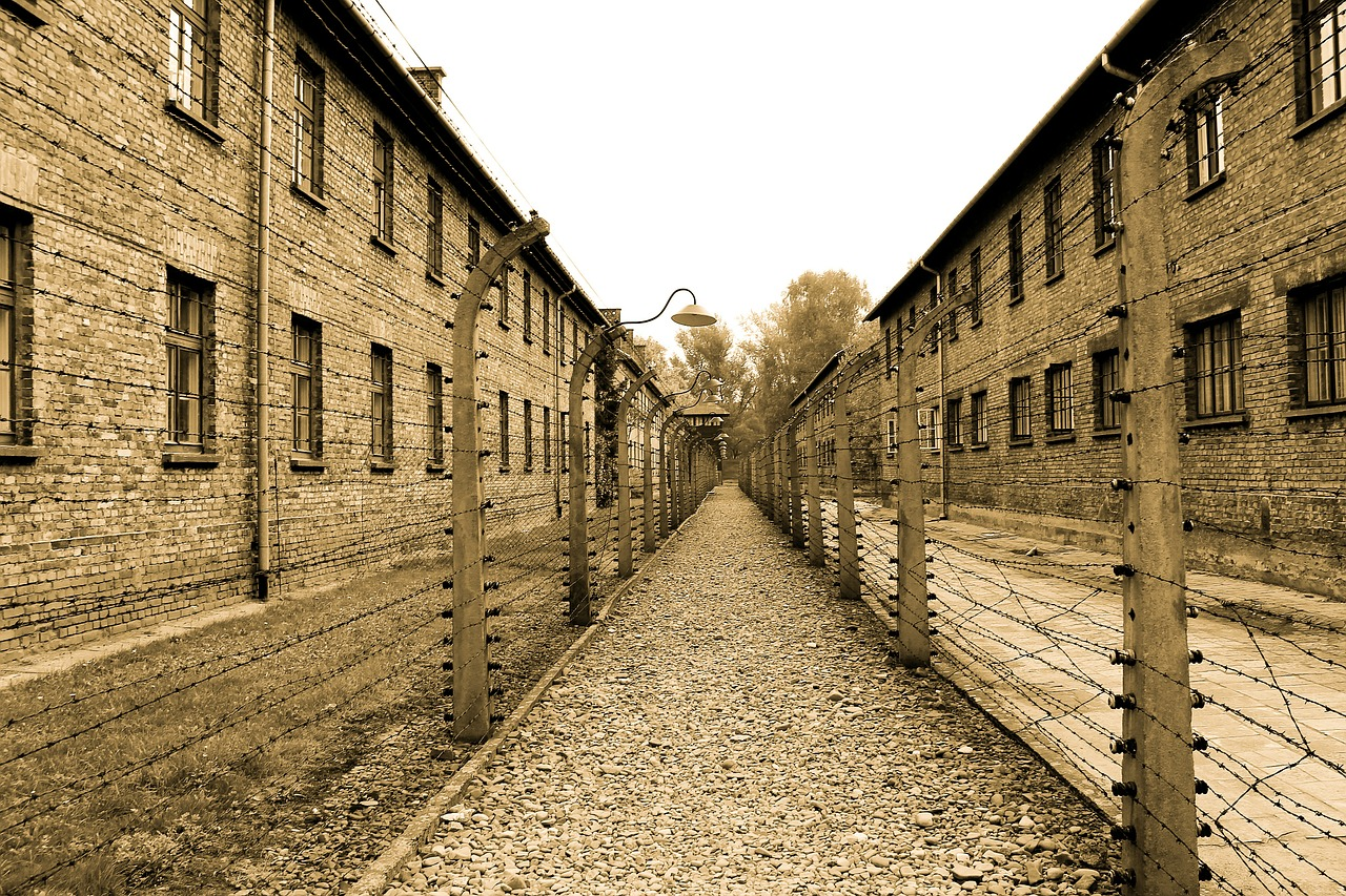 auschwitz extermination camp alley free photo