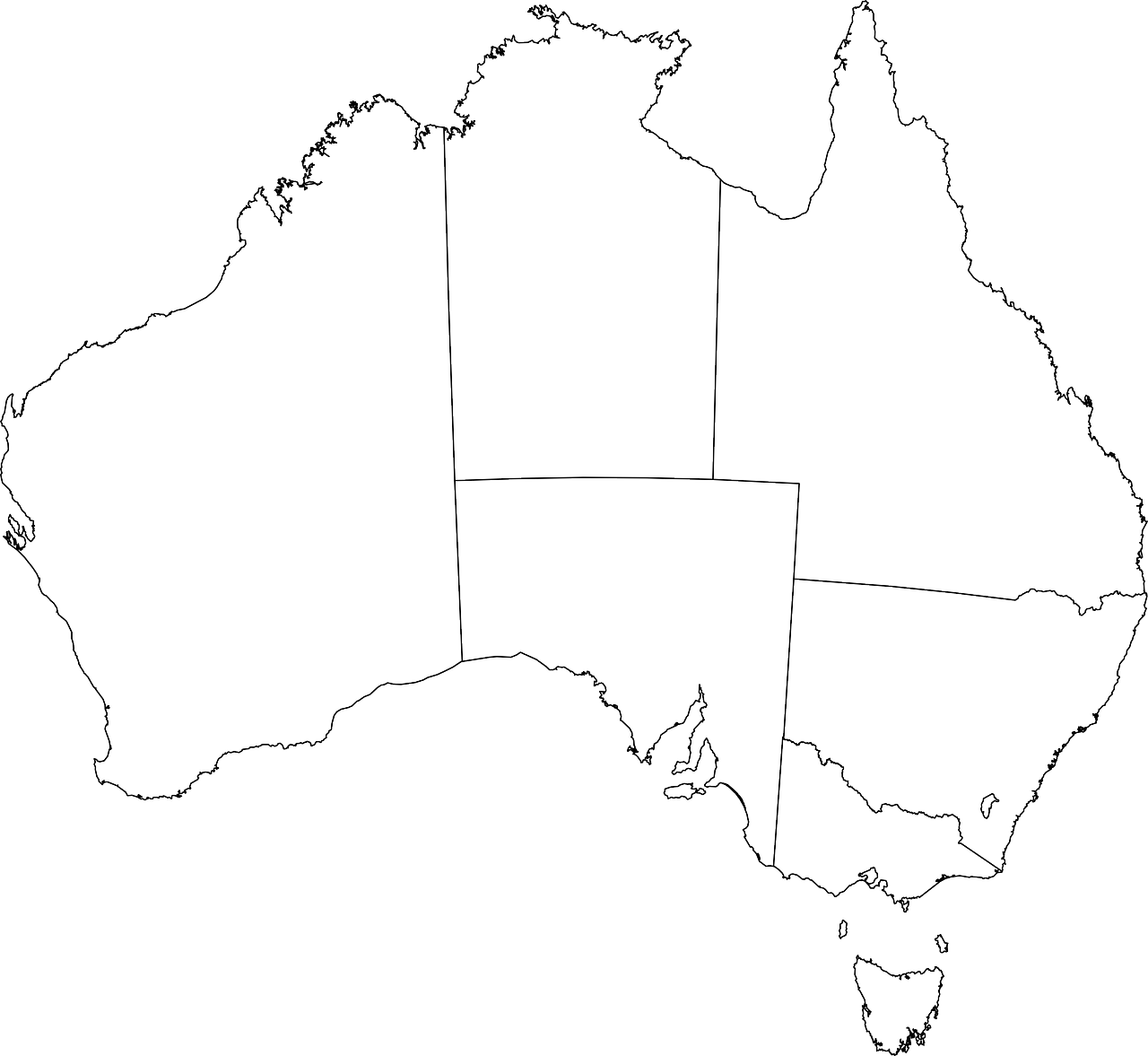 Australia,continent,geography,map,coastline boundaries - free photo ...