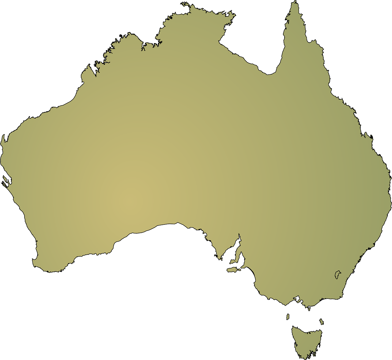 australia continent geography free photo