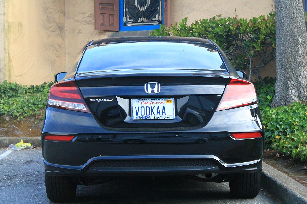 Auto,vodka,california,license plate,honda - free photo from needpix com