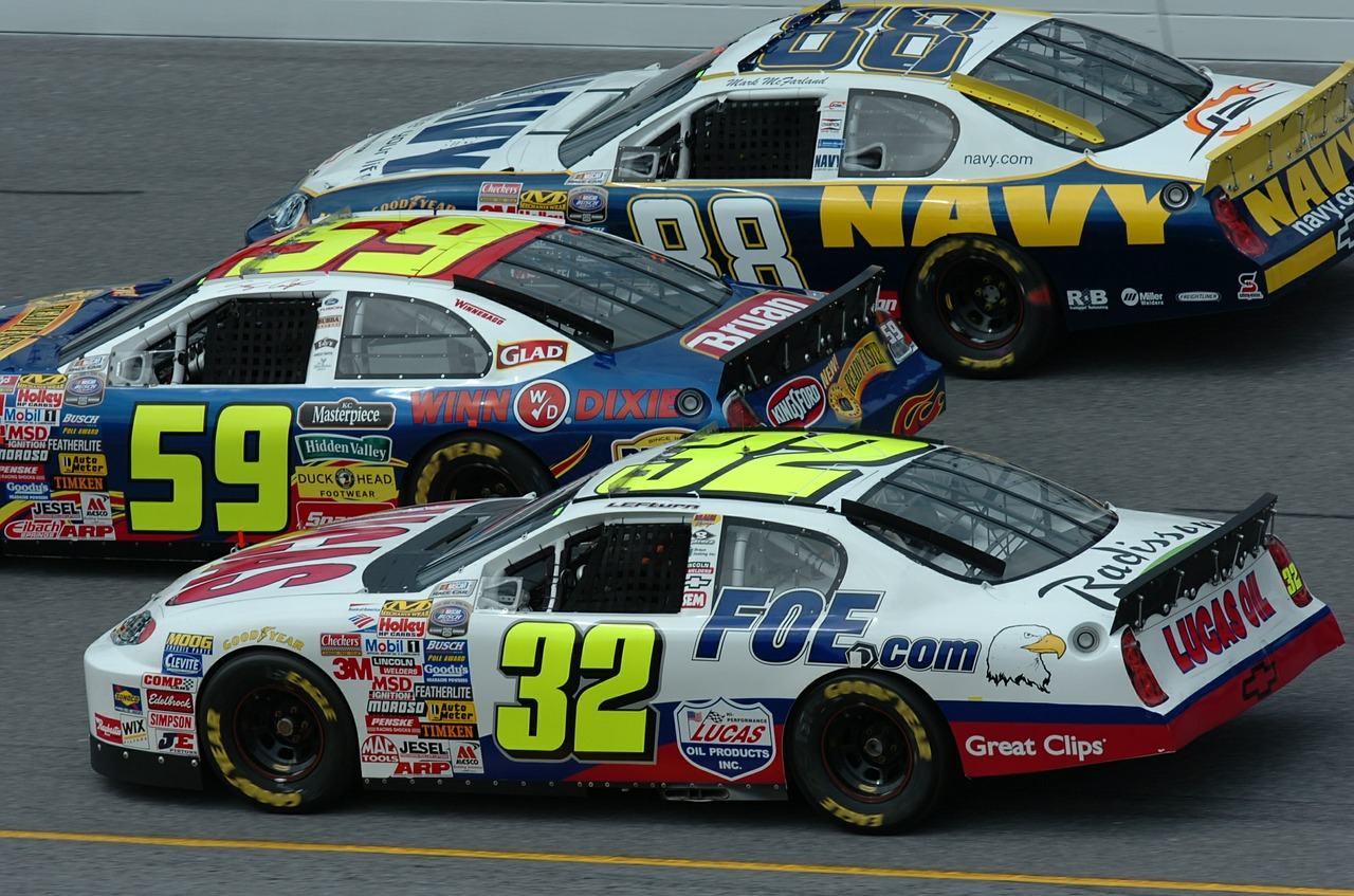 auto racing nascar car free photo