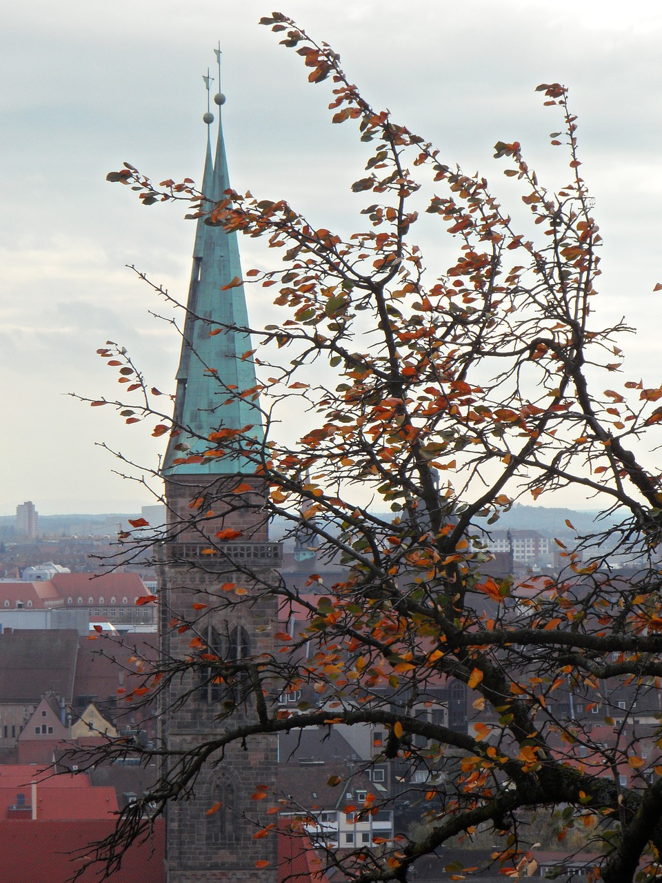 autumn church steeple free photo