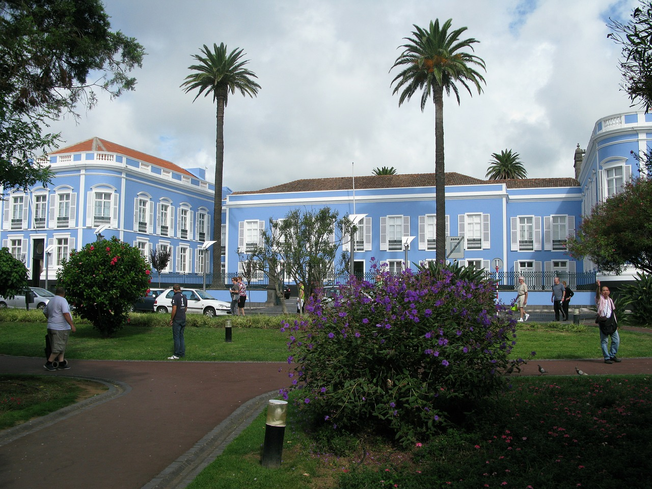 azores manor house house blue free photo