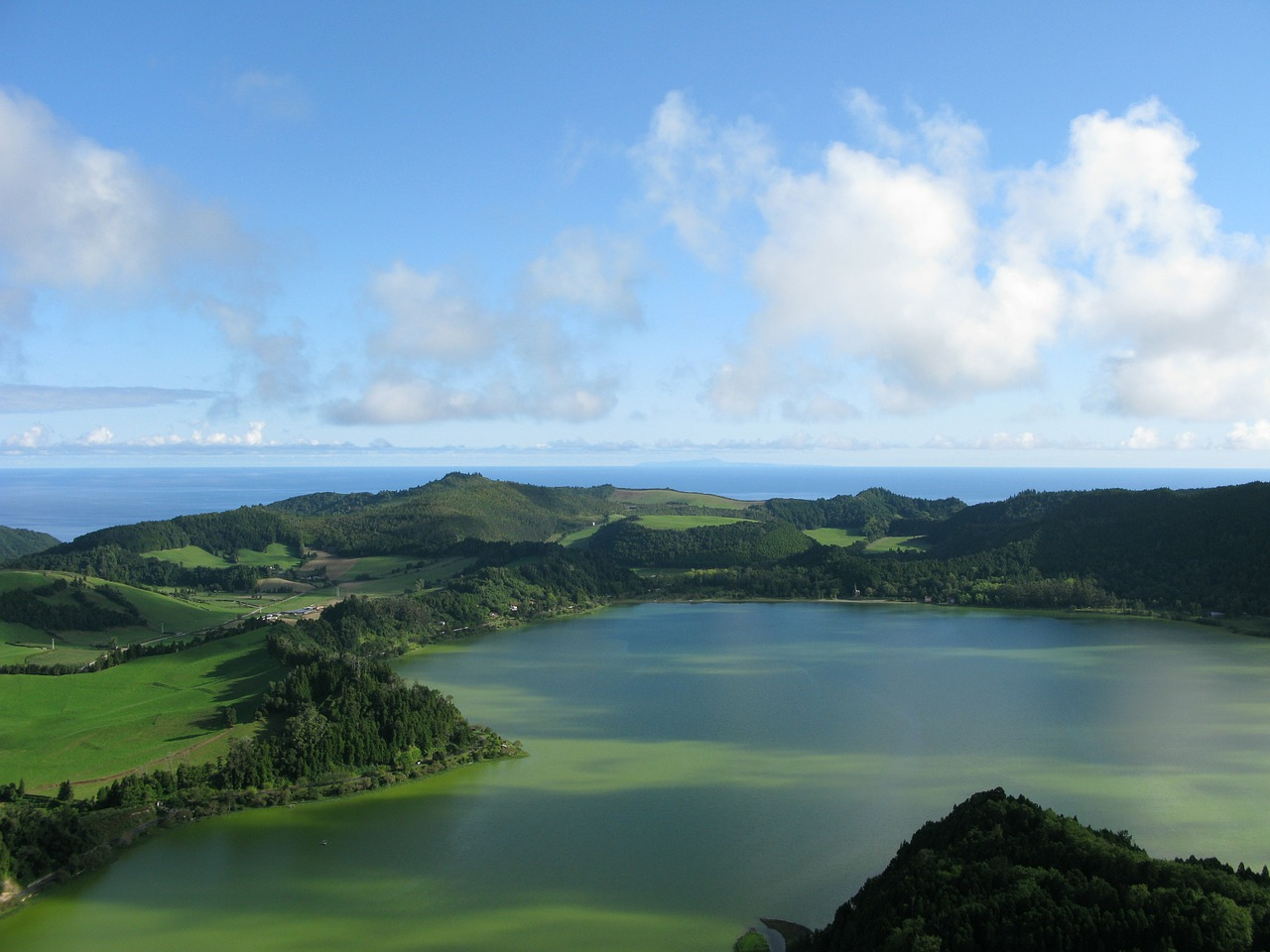 azores lake green free photo