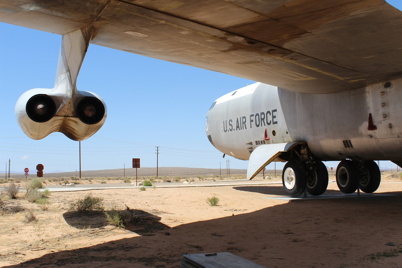 b-52 air force mojave desert free photo