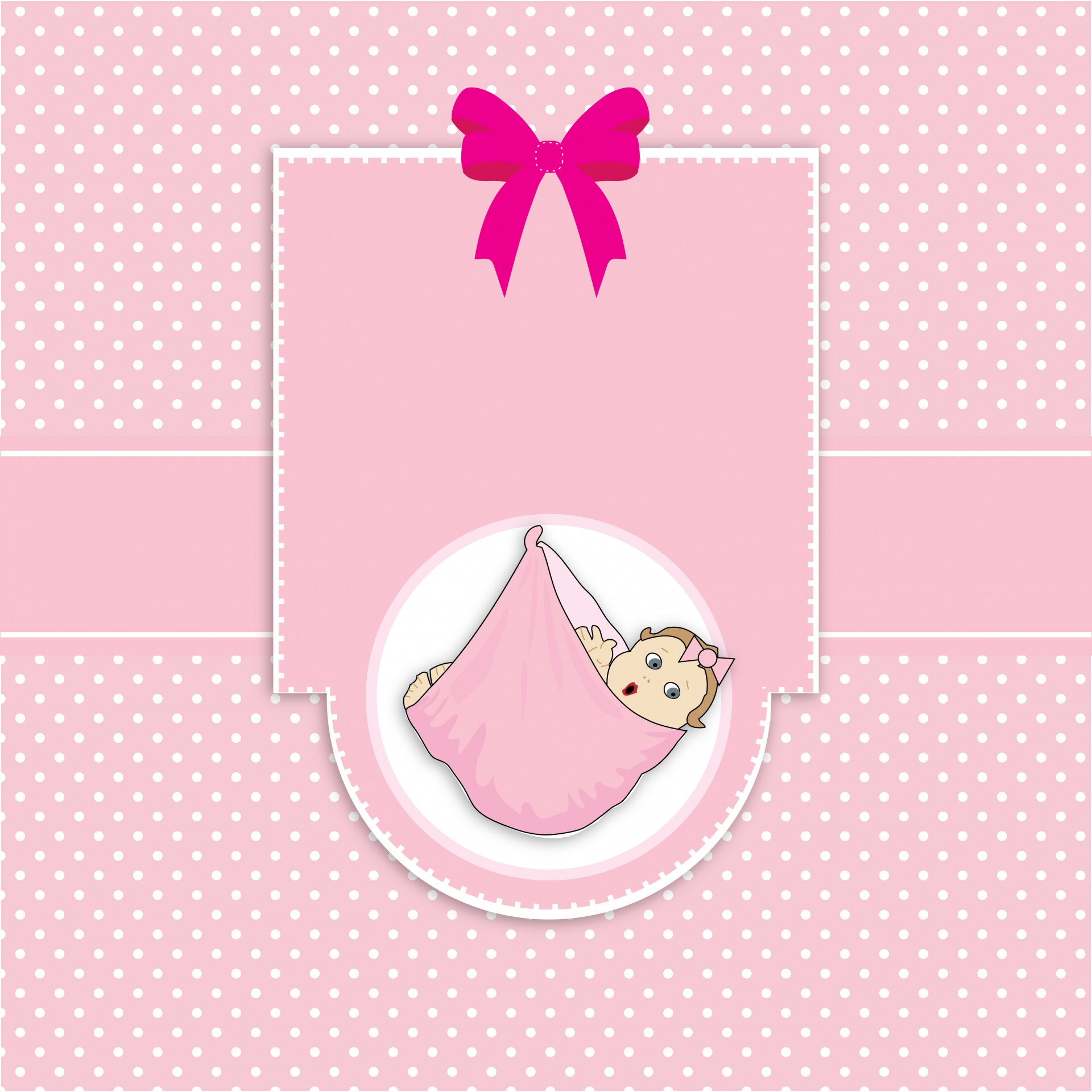 Baby Girl Card Template Arrival Free Photo From Needpix Com