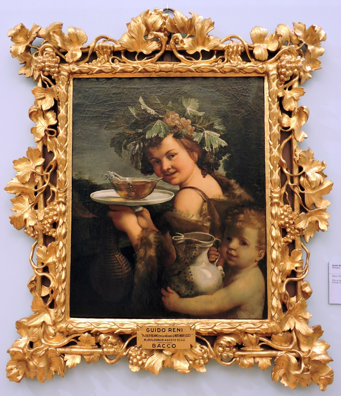 Download free photo of Bacchus,child,the framework,guido reni,florence - from needpix.com