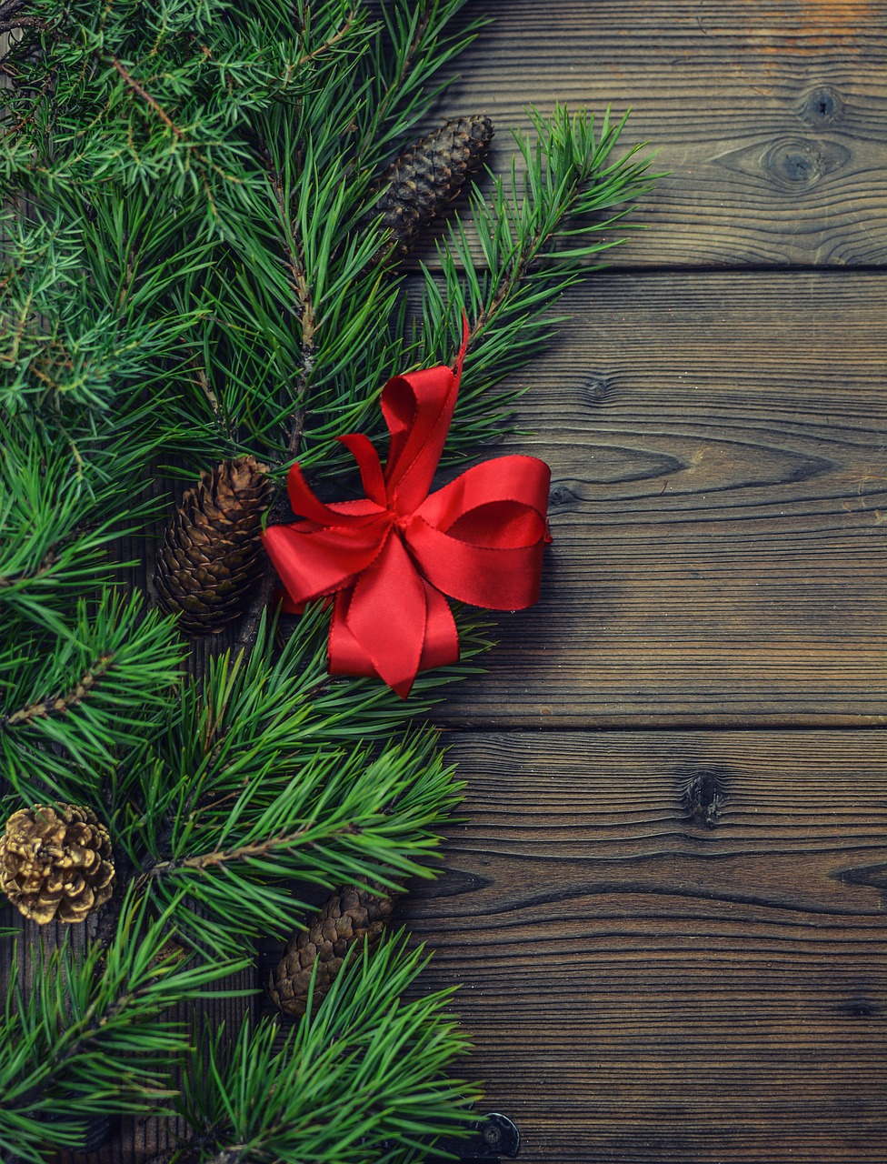 Background Christmas Pine Wooden Christmas Background Free