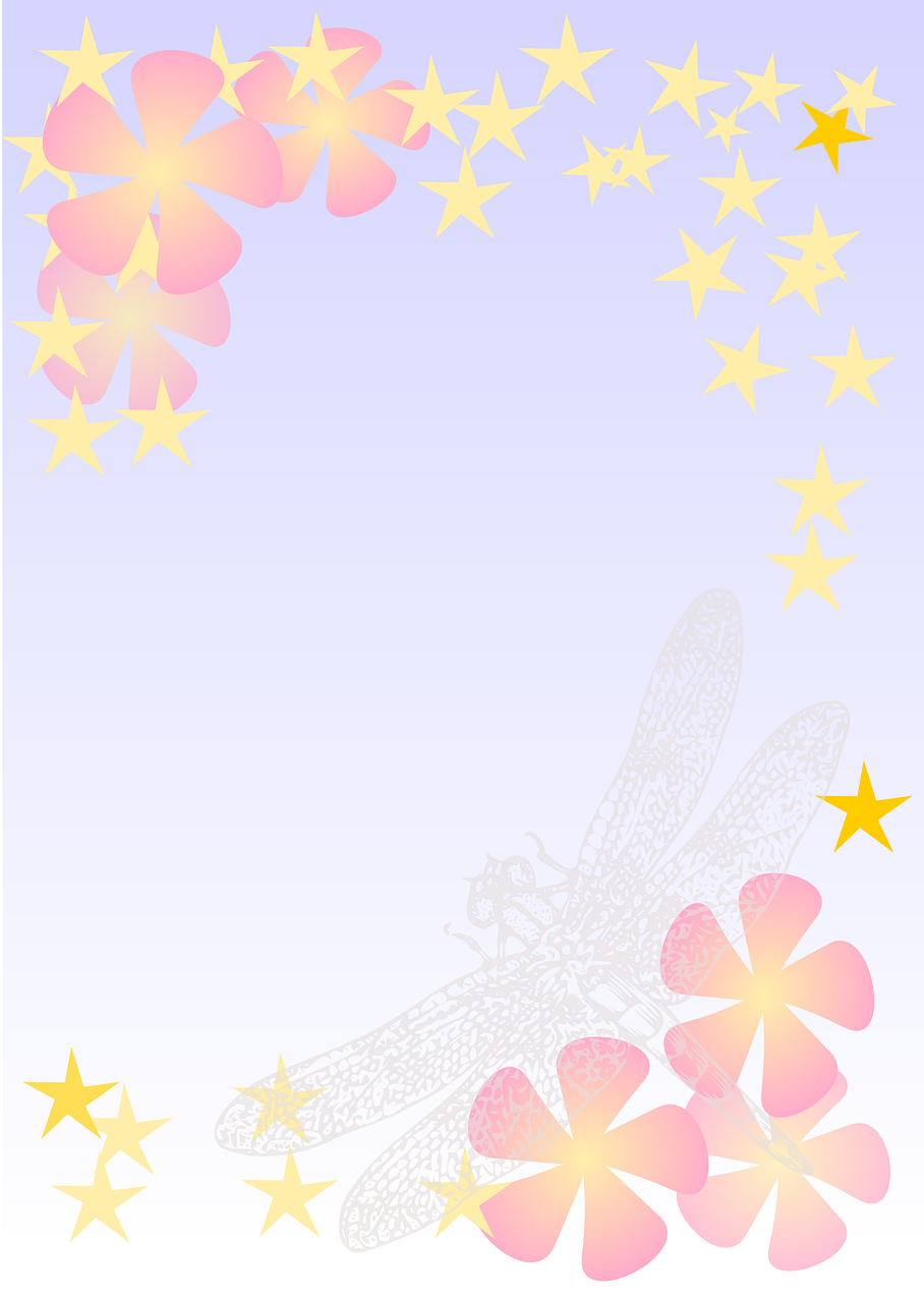 Backgrounddesignpaperfloraldragonfly Free Image From