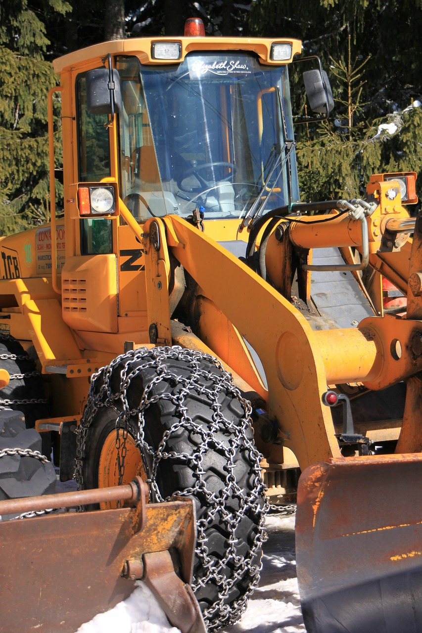 backhoe cold digger free photo