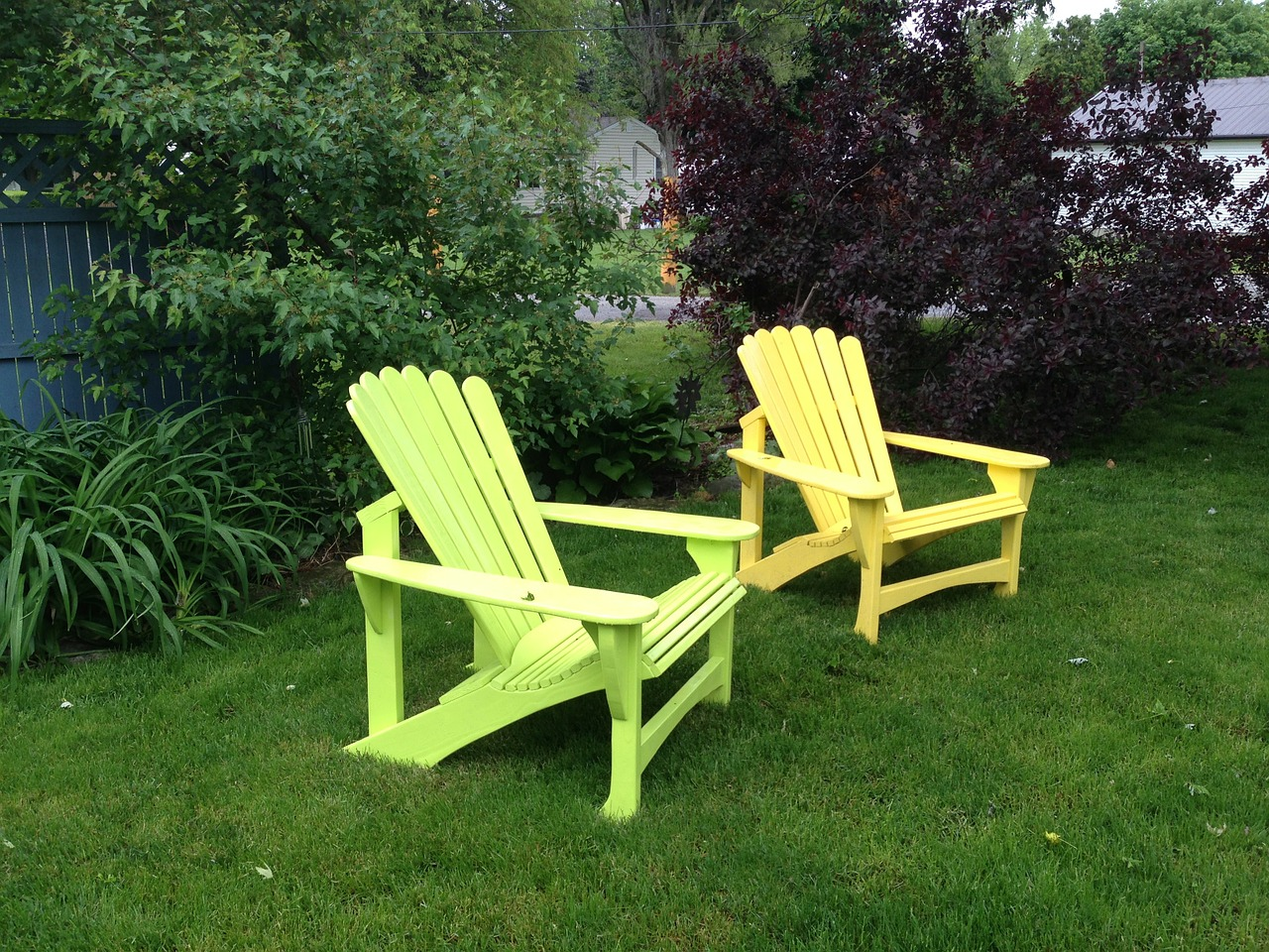 backyard summer adirondack free photo