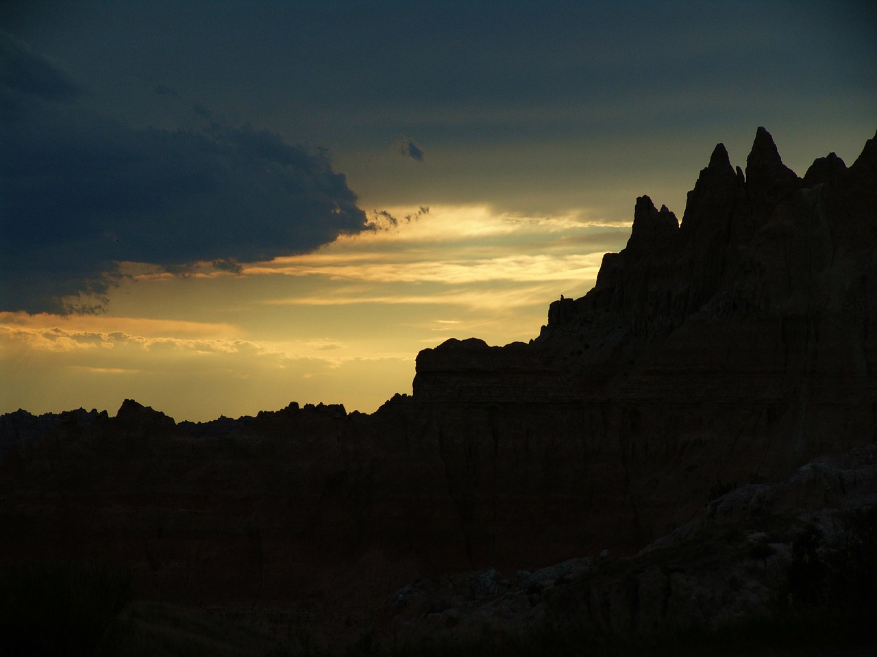 badlands sunset sunrise free photo