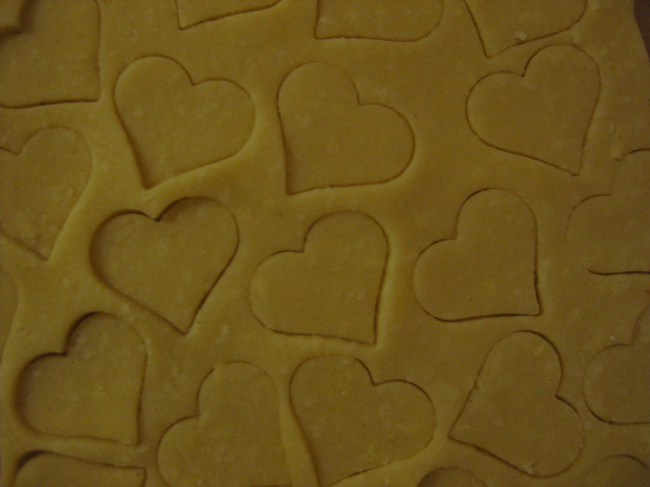 bake heart dough free photo