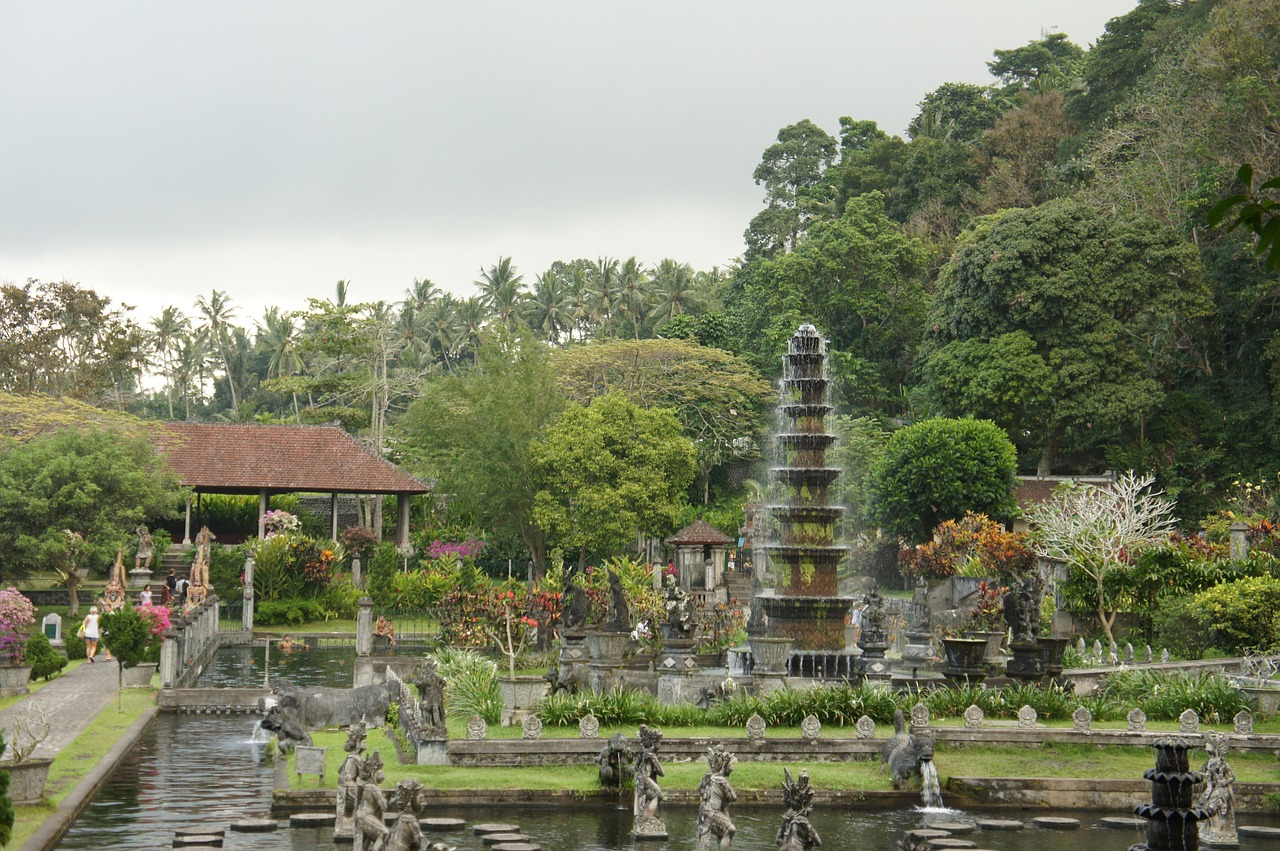 bali water temple holiday water free photo