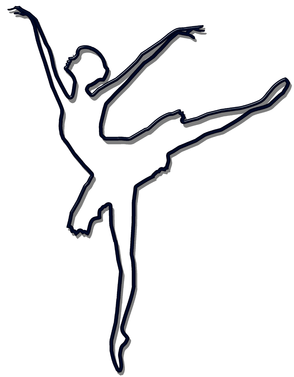 ballet black silhouette free photo