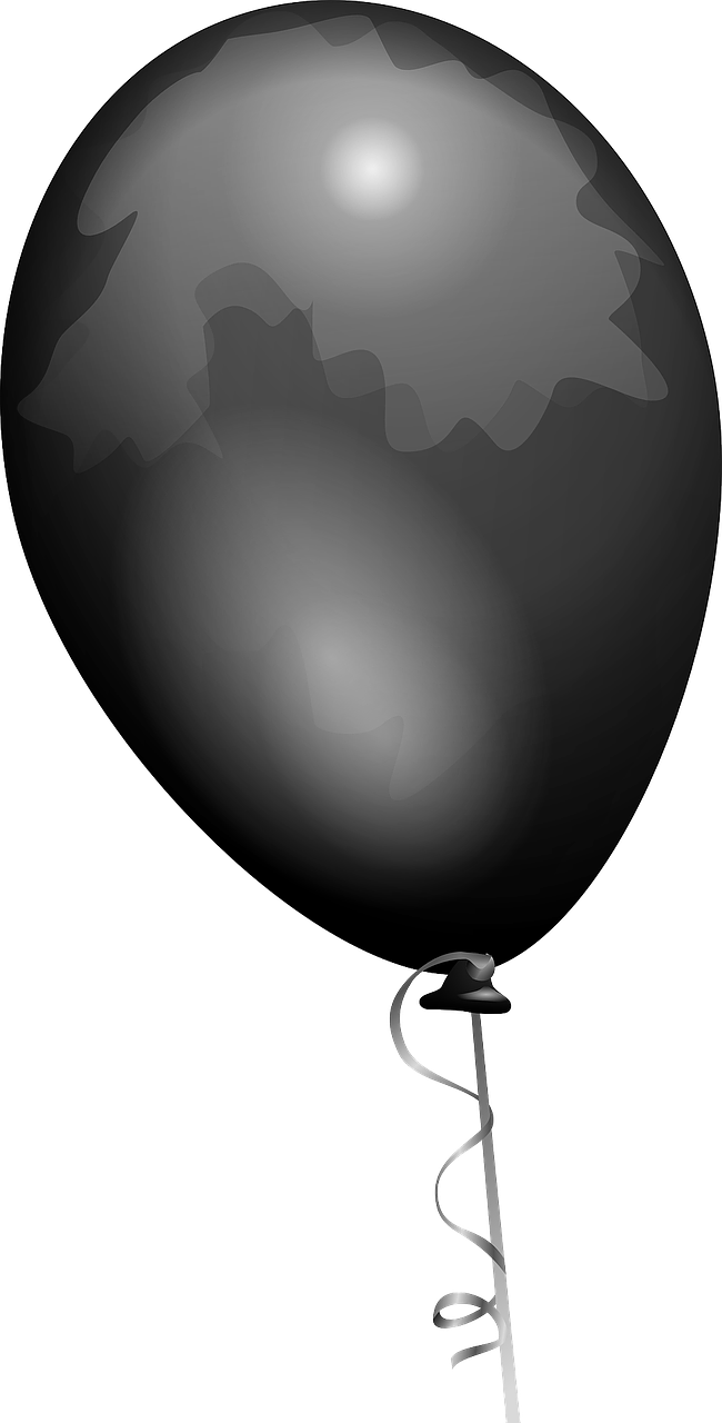 balloon black shiny free photo