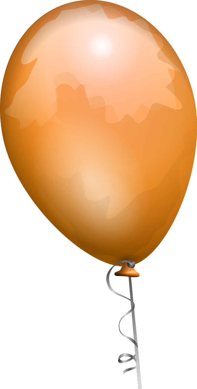 balloon orange shiny free photo
