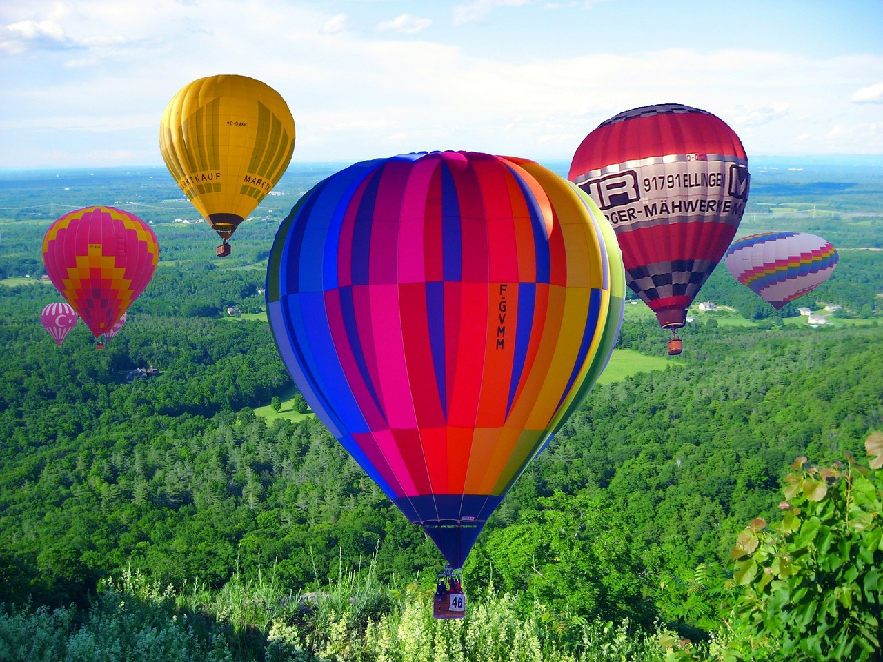 balloons sky colorful free photo