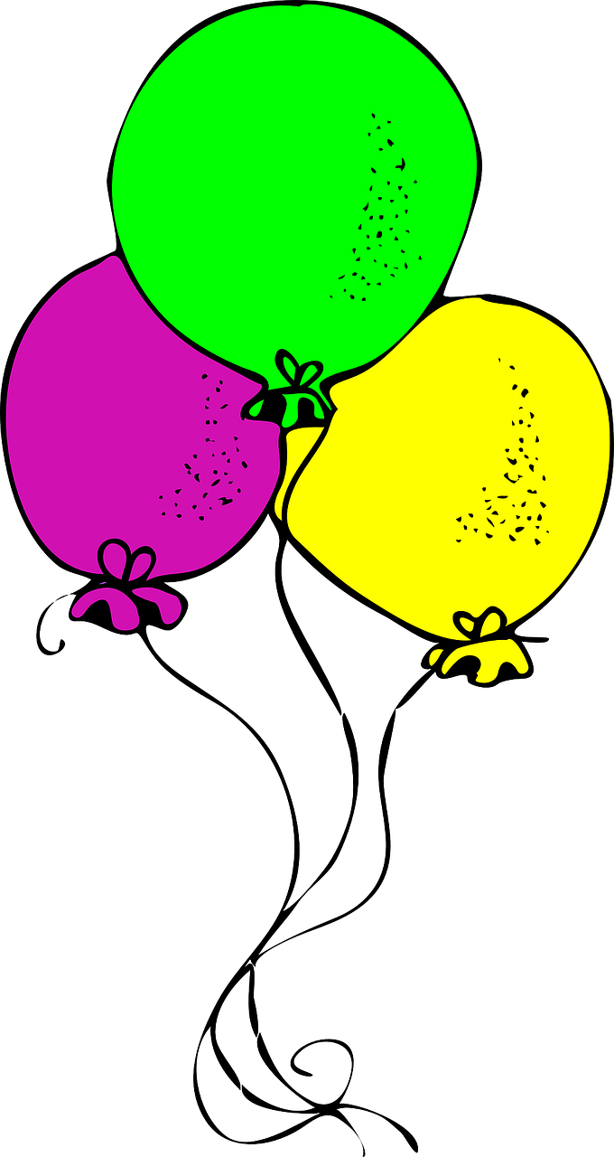 balloons yellow pink free photo