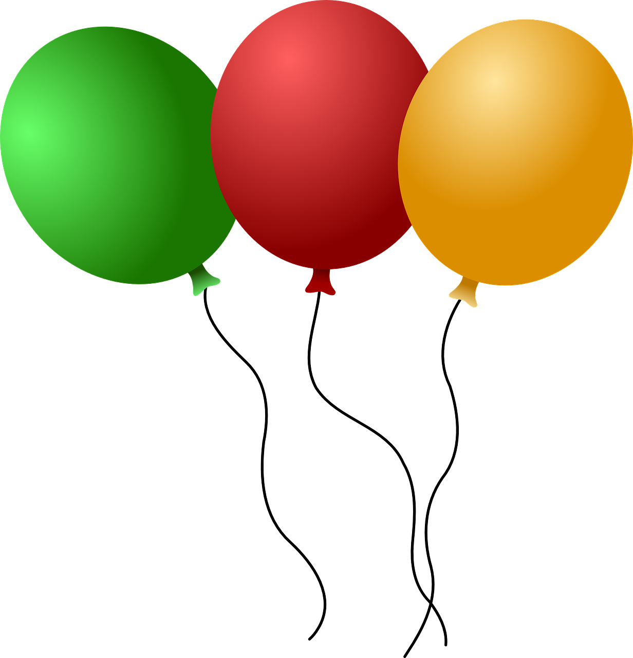 balloons red green free photo