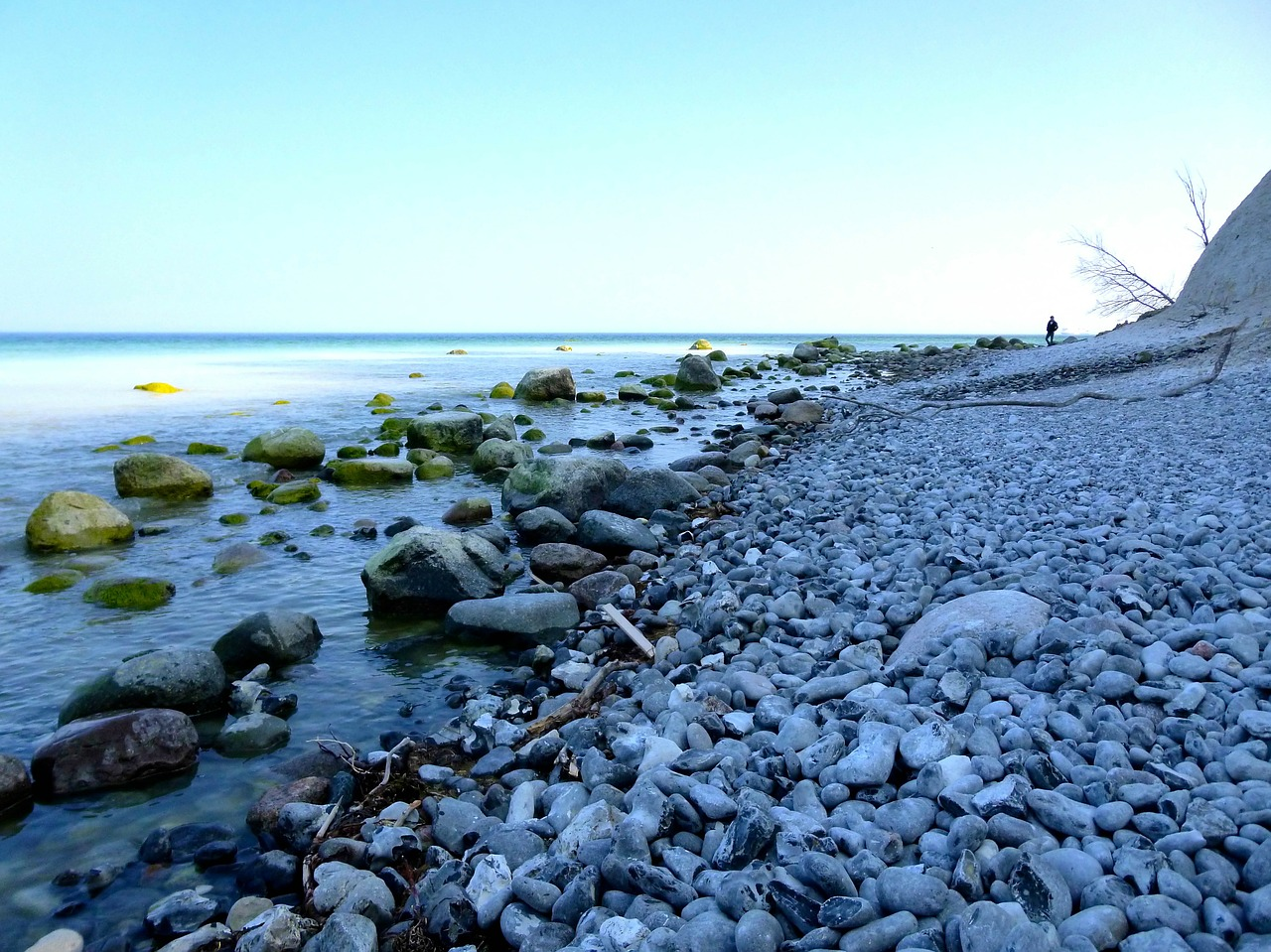 baltic sea beach stones free photo