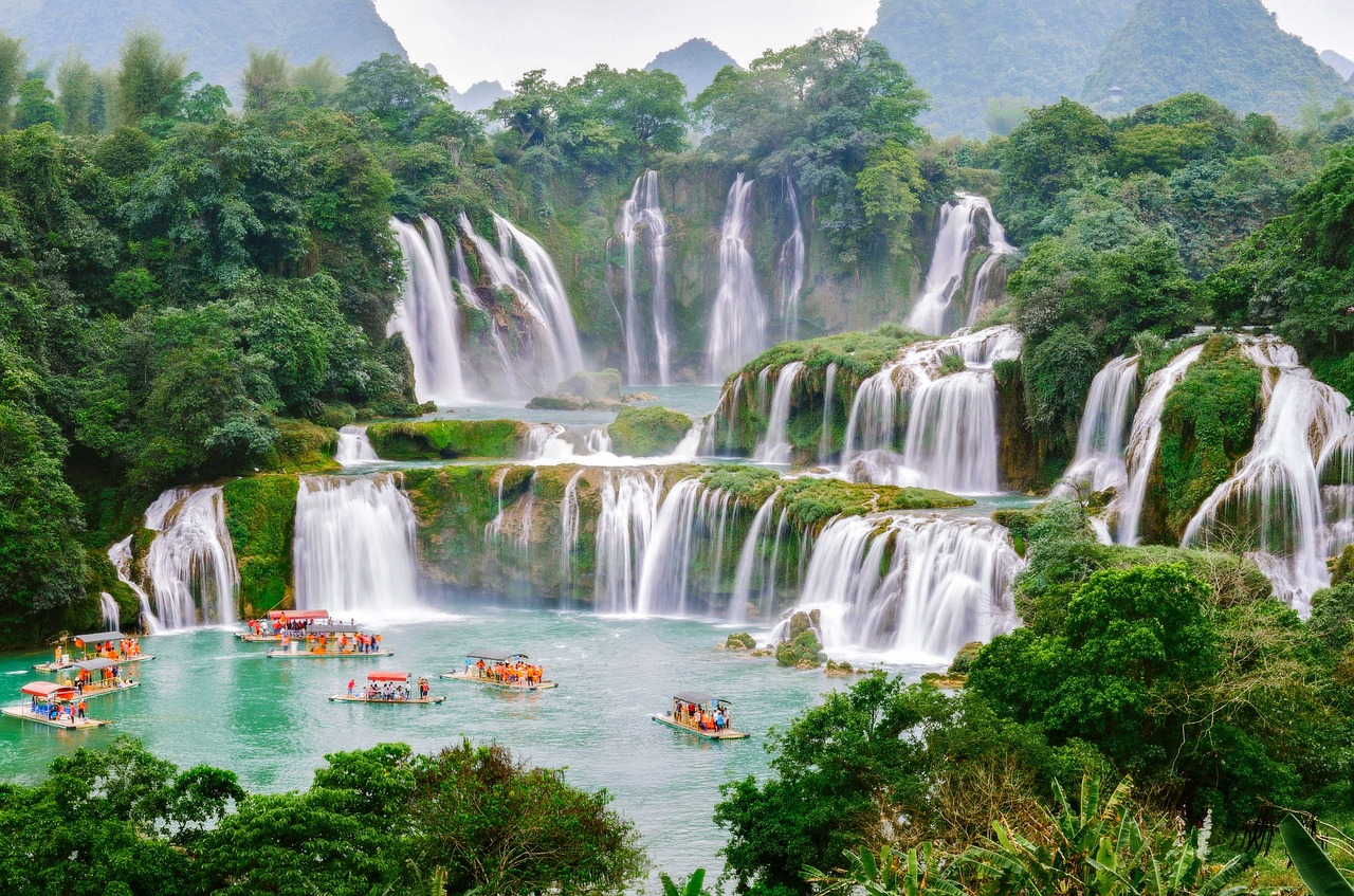 Ban Gioc Waterfall: Aerial View