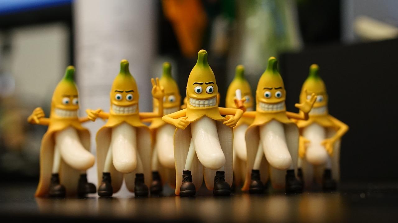 Смешная картинка банан, печать