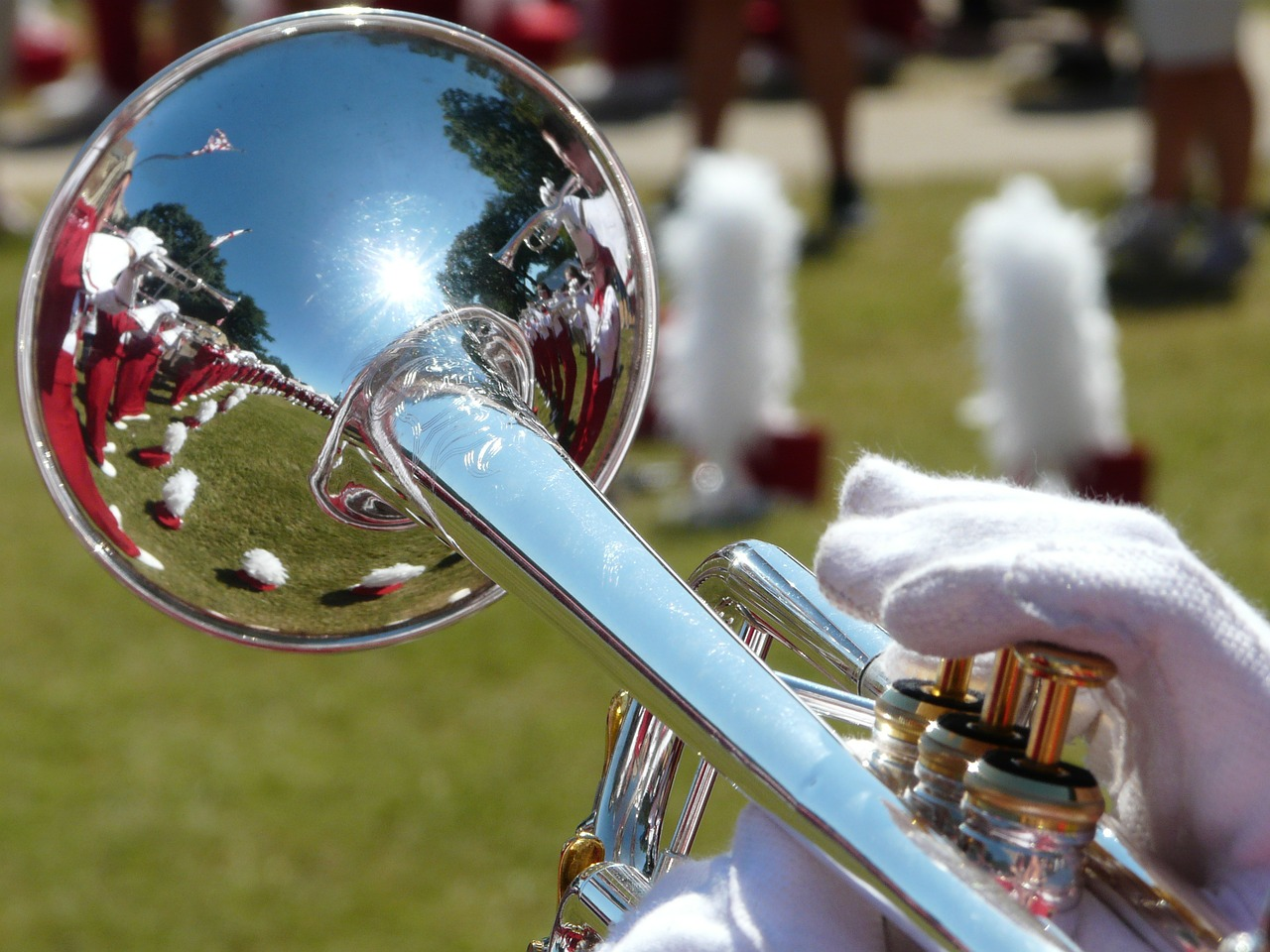 band trumpet uniforms free photo