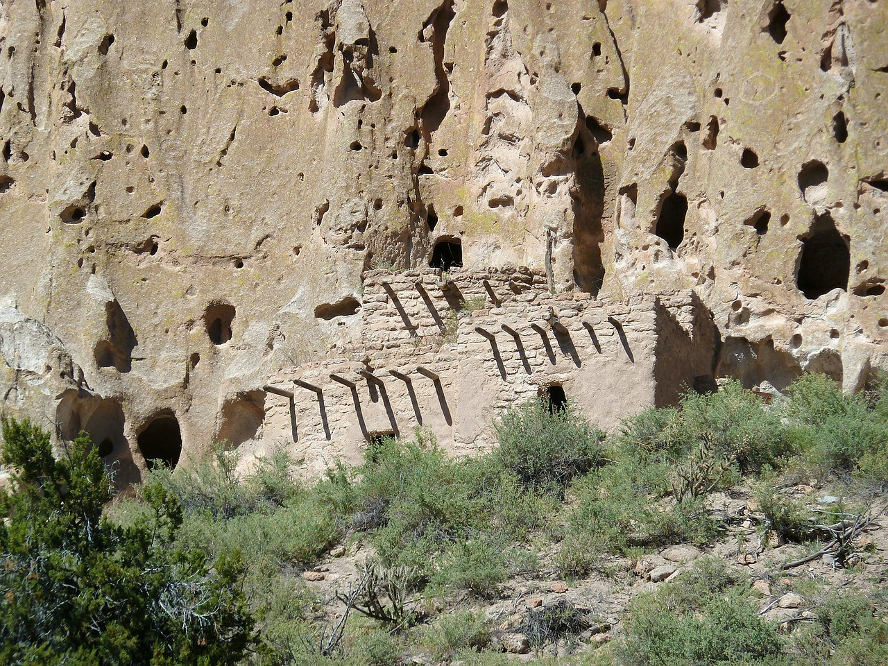 bandelier national monument new mexico usa free photo