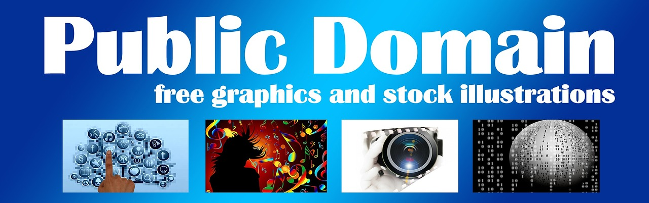 banner header into the public domain free photo