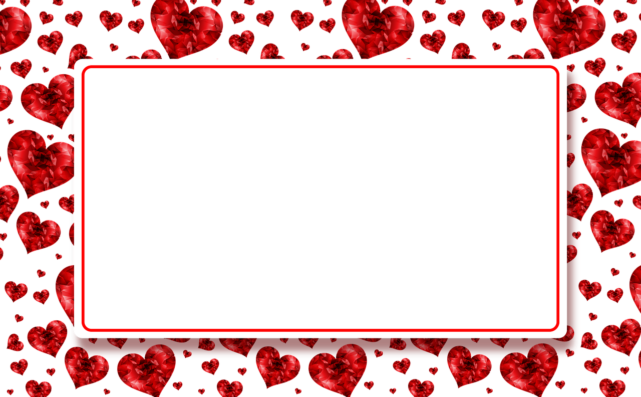 Banner,hearts,red,plate,photo frame - free photo from