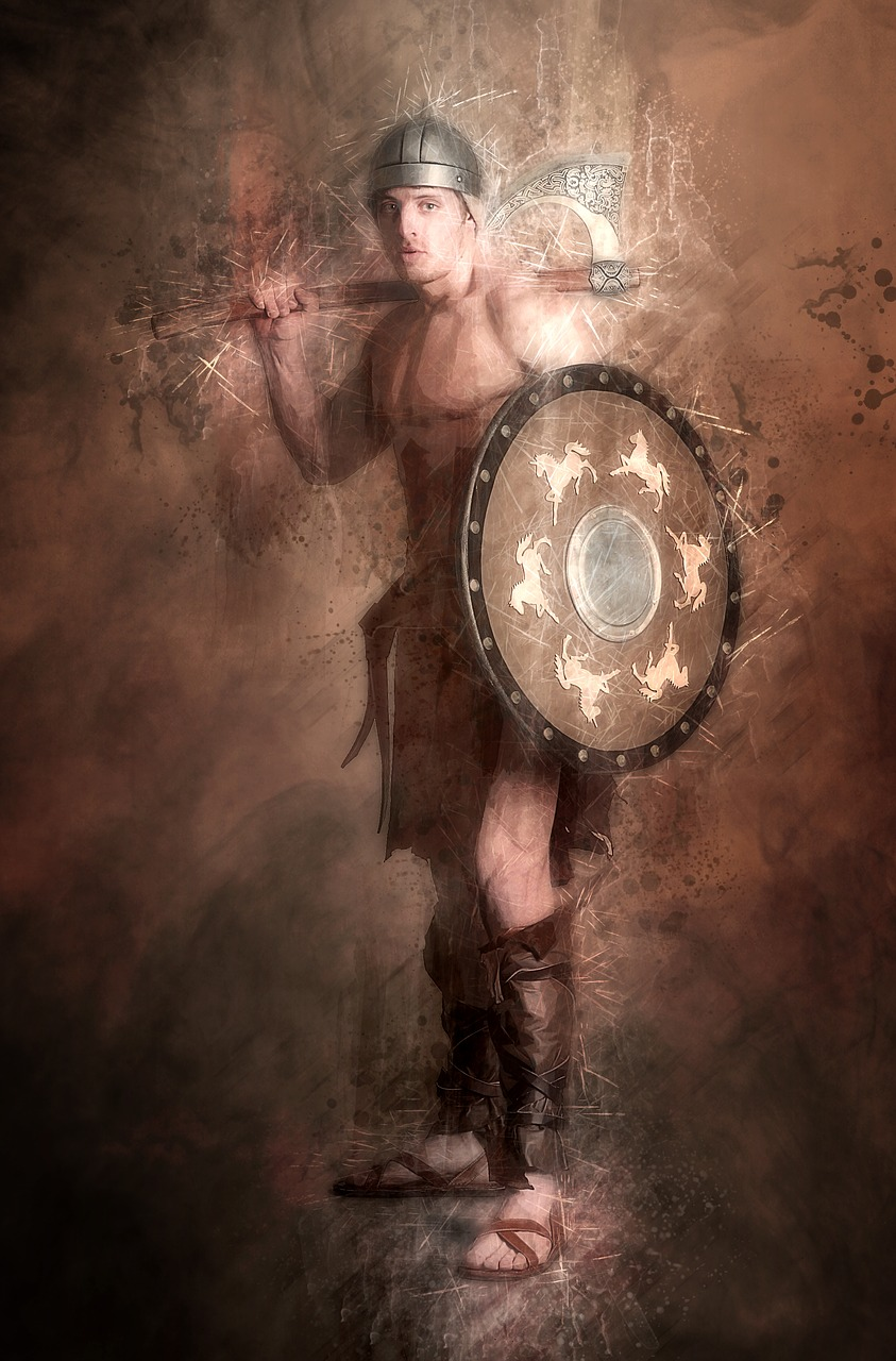 barbarian warrior fighter free photo