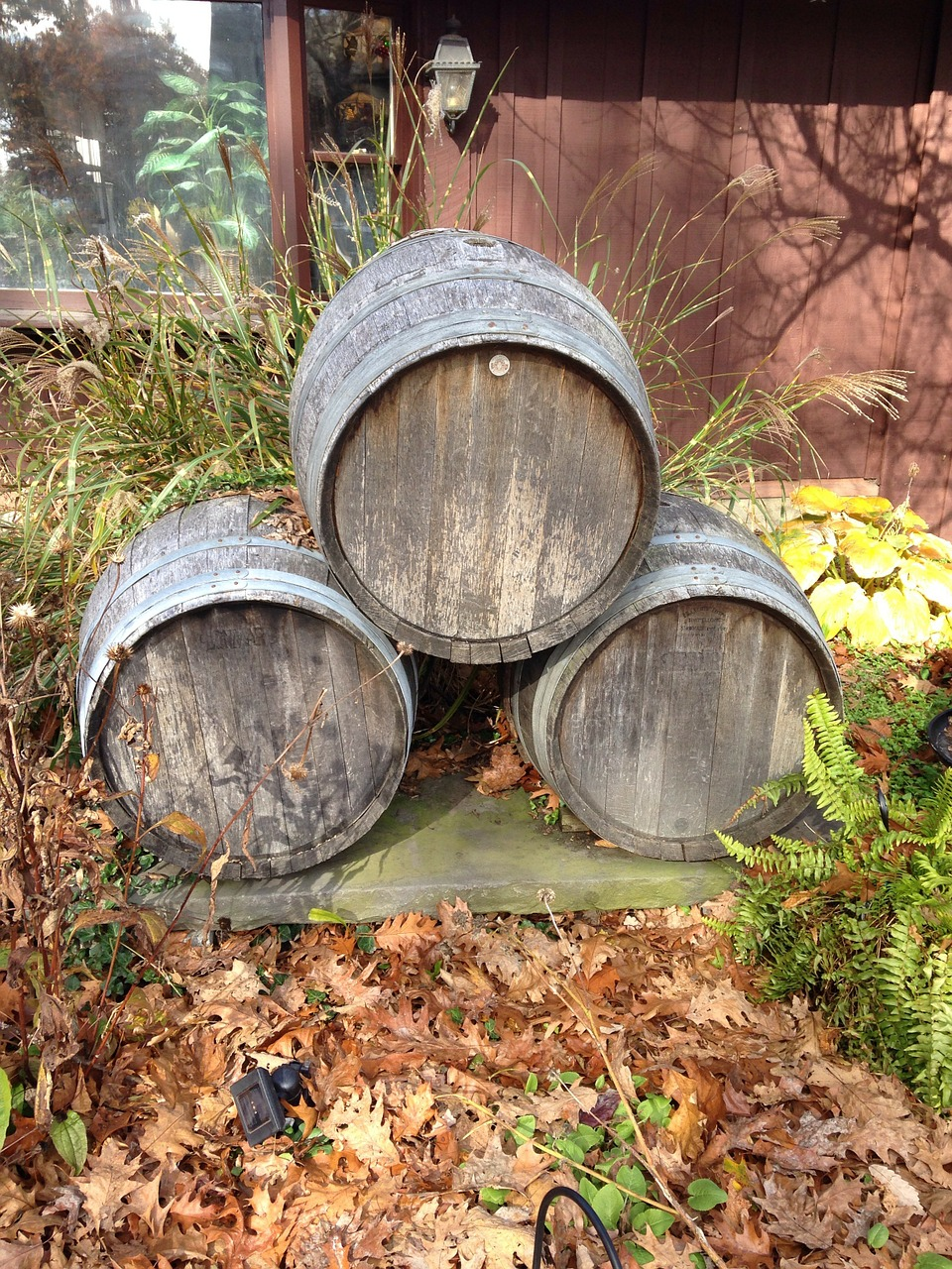 barrels kegs wood free photo