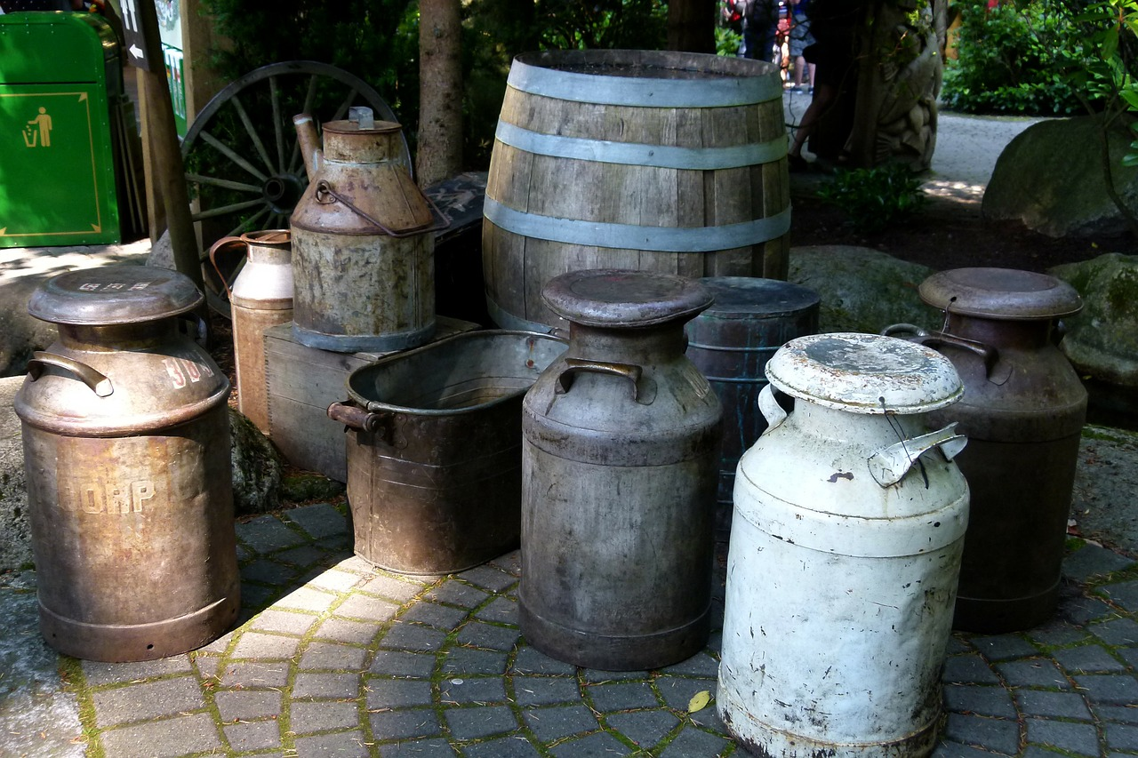 barrels kegs antique free photo