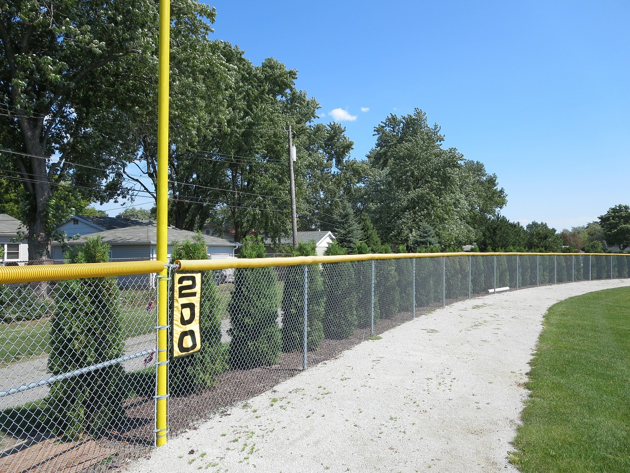 baseball field fence free photo