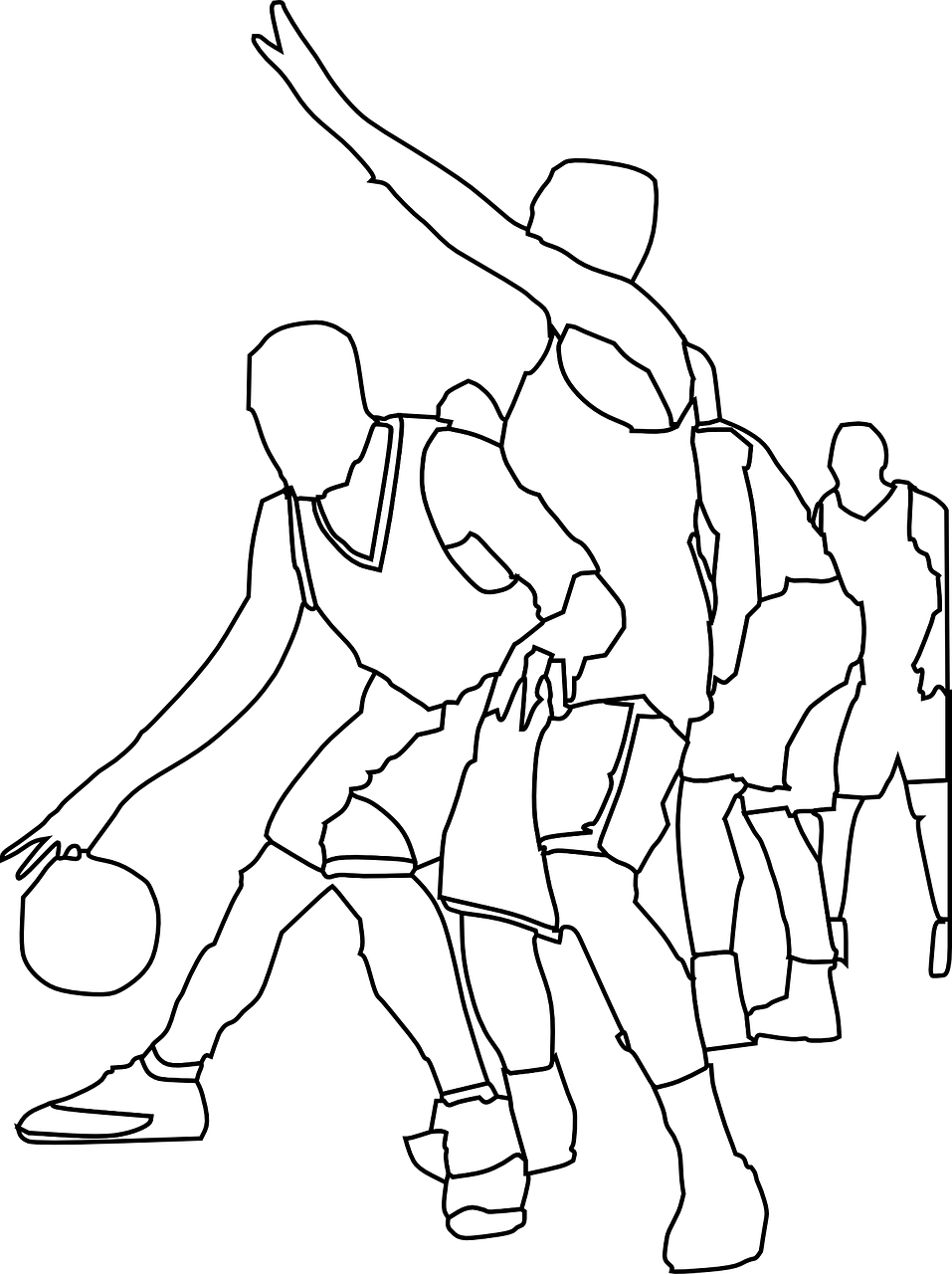 basketball players game free photo